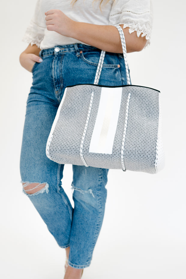 nadia tote bag + clutch