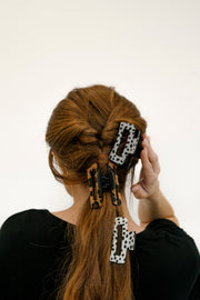 ava animal print hair clip