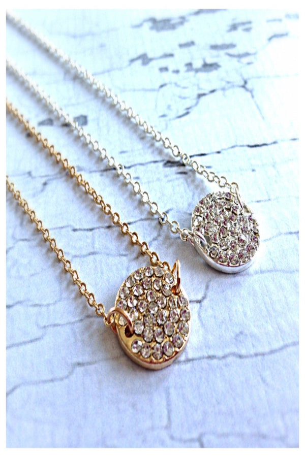 Jeweled Disc Necklace