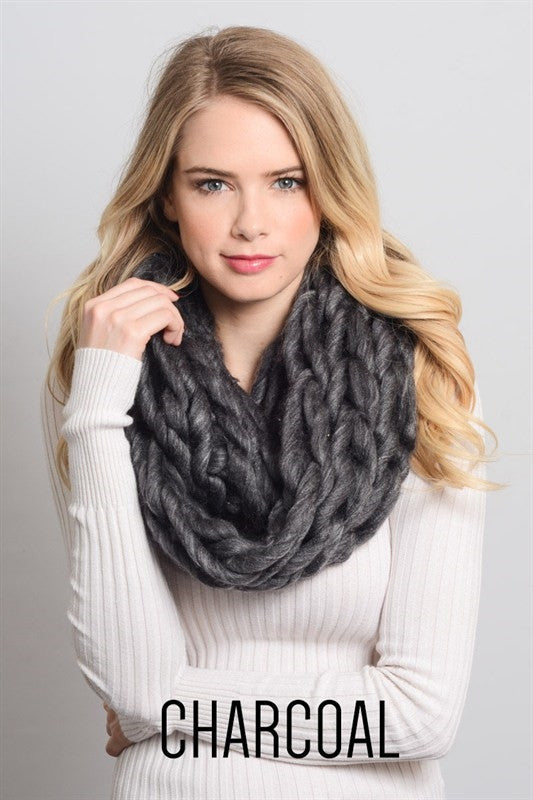 Loose Knit Chunky Infinity Scarf