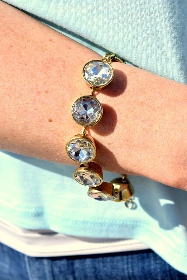 Crystal Lenore Large Gemstone Bracelet
