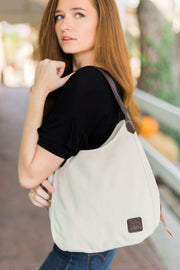 anniston canvas hobo bag