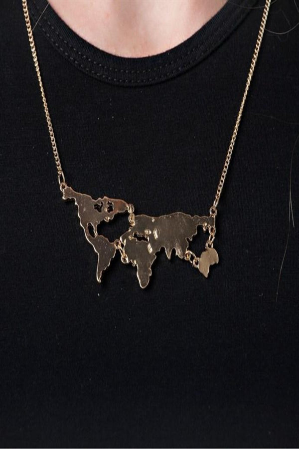Map Pendant Necklace