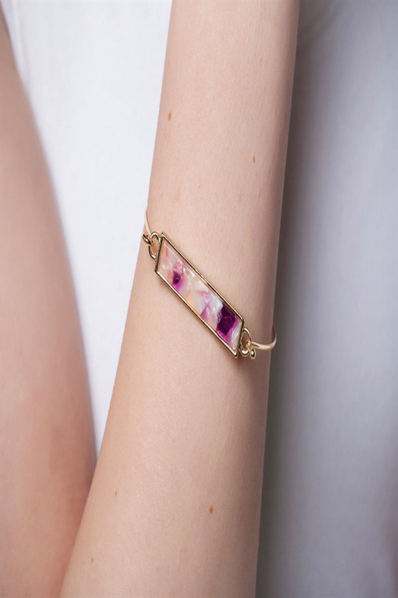 Marbled Bar Wire Bangle