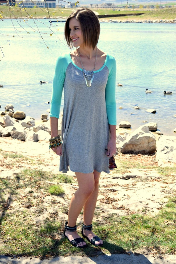 Flowy Baseball T Tunic Dress