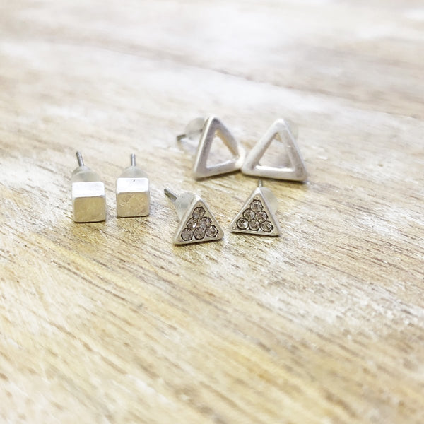 Minimalist Earrings | 3 Piece Set