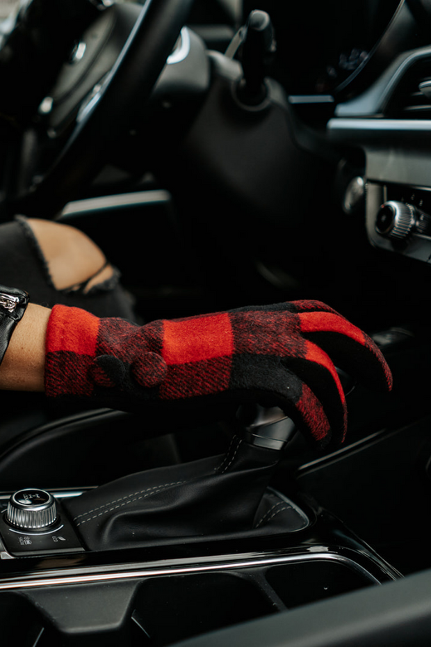 gabrielle buffalo plaid gloves | 2 colors