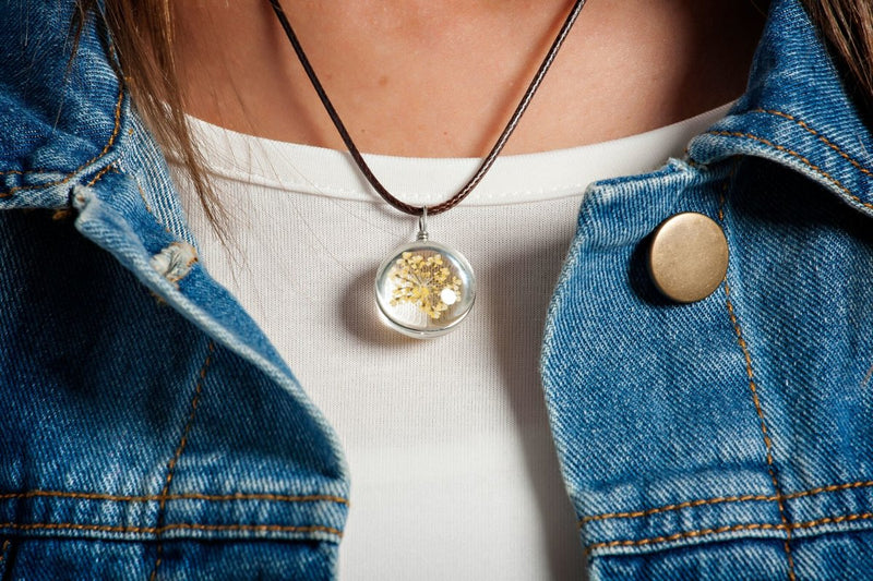 Organic Glass Globe Necklaces