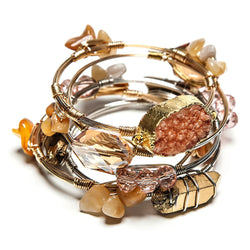 peyton stackable stone + wire set | 5 styles