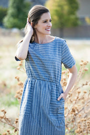 Pinstripes and Pockets Dress
