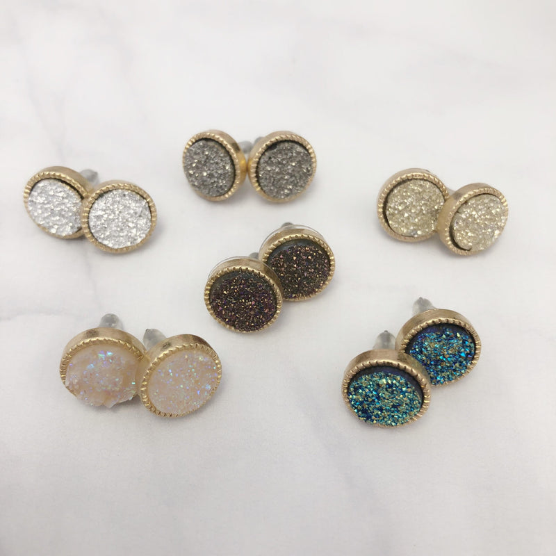 Shaped Sparkle Stud Earrings