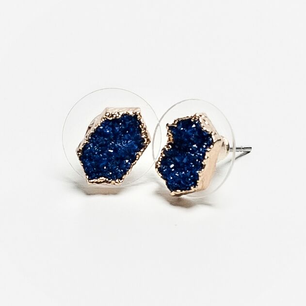 Dazzling Druzy Stud Earrings