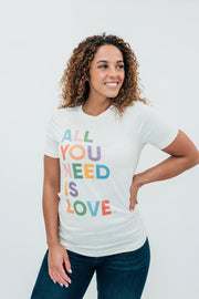 "lizzy ""all you need is love"" tee"