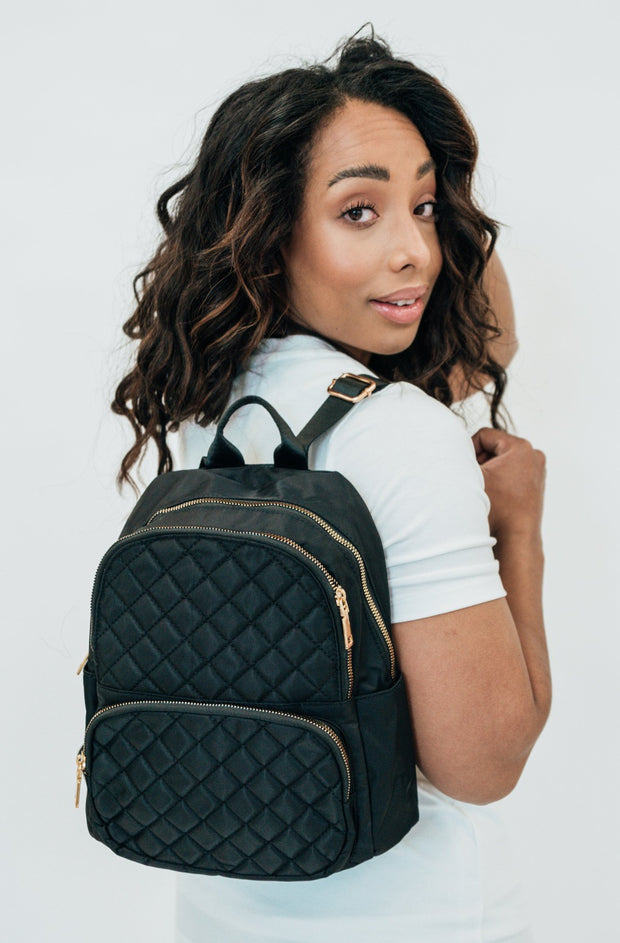 ettie mini quilted backpack