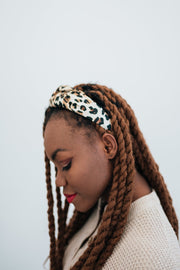 carly leopard headband