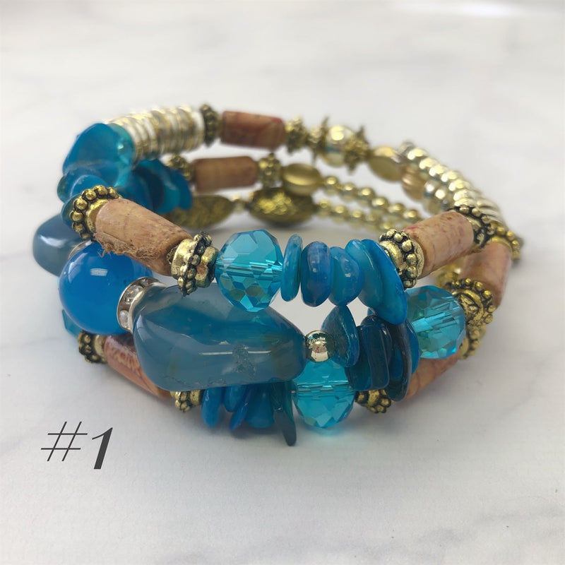 Style and Stone Coiled Bracelet | 6 options