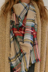 Tartan Plaid Blanket Scarf- New colors!