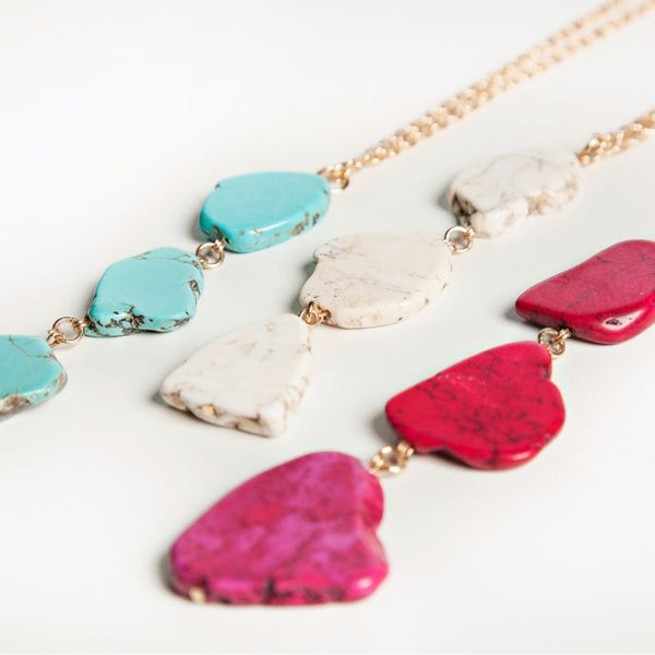 Tri Stone Necklaces