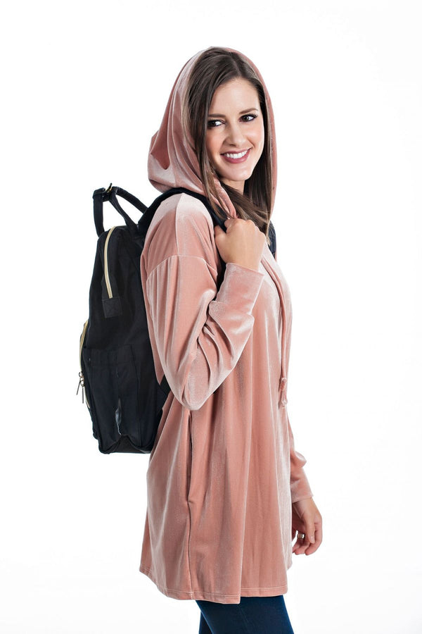 Velvet Hooded Tunic | 3 Colors!