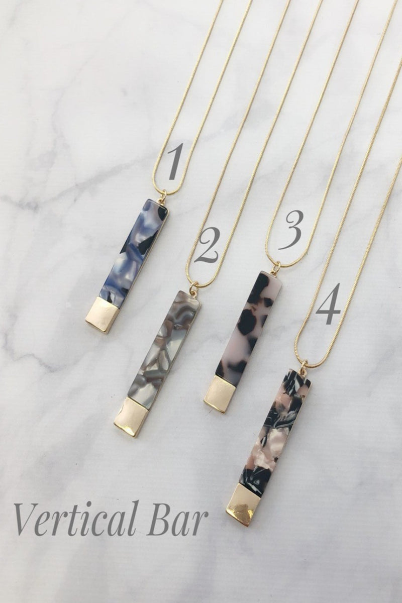 Water Color Stones Necklaces