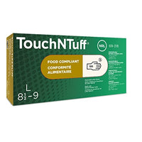 Ansell 69-318-M TouchNTuff Disposable Latex Gloves Powder Free 5 mil Medium (Box of 100)