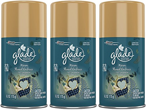 Glade Automatic Spray Refill Limited Edition Warm Flannel Embrace 6.2 OZ (Pack of 3)