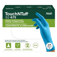 Touch n Tuff 92-675 Disposable Nitrile Gloves Chemical Protection, Latex-Free Powder-Free Gloves