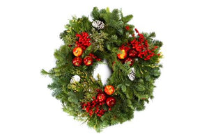 "Candle Ring 14"" Royal Fruit Wreath"