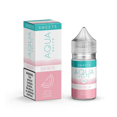AQUA SALTS | Sour Melon 30ML eLiquid - Vaping Industries