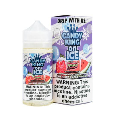 CANDY KING ON ICE | Strawberry Watermelon 100ML eLiquid - Vaping Industries