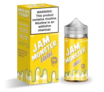 Banana | JAM MONSTER 100ml - Vaping Industries