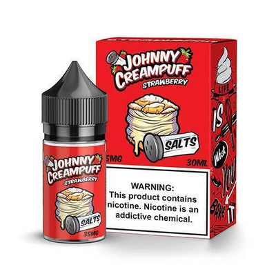 JOHNNY CREAMPUFF SALTS | Strawberry 30ML eLiquid - Vaping Industries