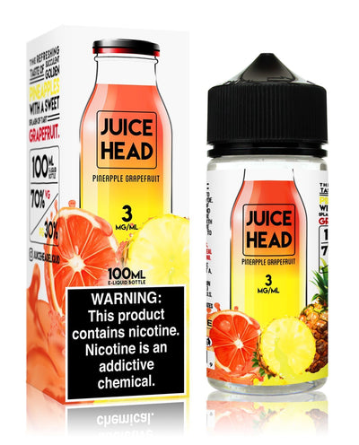 JUICE HEAD | Pineapple Grapefruit 100ML eLiquid - Vaping Industries