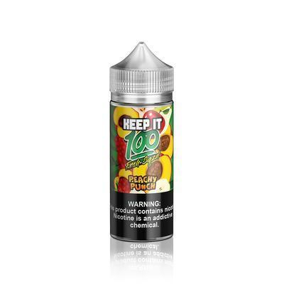 Keep It 100 | Peachy Punch 100ML eLiquid - Vaping Industries