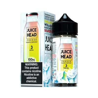 JUICE HEAD FREEZE | Pineapple Grapefruit 100ML eLiquid - Vaping Industries