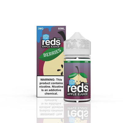 VAPE 7 DAZE | Reds Berries Iced 60ML eLiquid - Vaping Industries