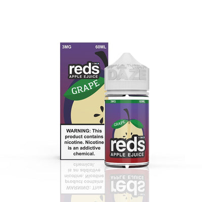 VAPE 7 DAZE | Reds Grape 60ML eLiquid - Vaping Industries