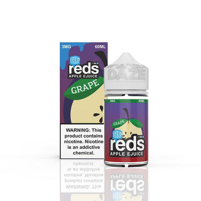VAPE 7 DAZE | Reds Grape Iced 60ML eLiquid - Vaping Industries