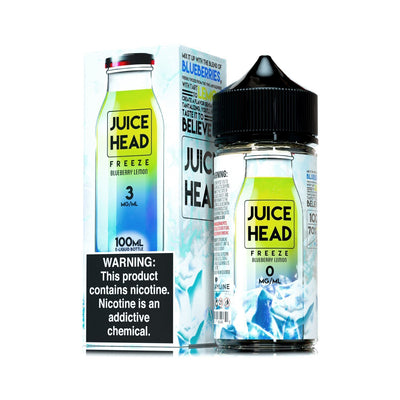 JUICE HEAD FREEZE | Blueberry Lemon 100ML eLiquid - Vaping Industries