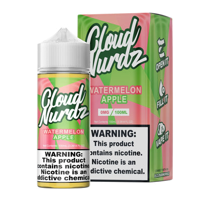 CLOUD NURDZ | Watermelon Apple 100ML eLiquid - Vaping Industries
