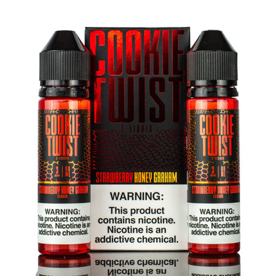 COOKIE TWIST | Strawberry Honey Graham 120ML eLiquid - Vaping Industries