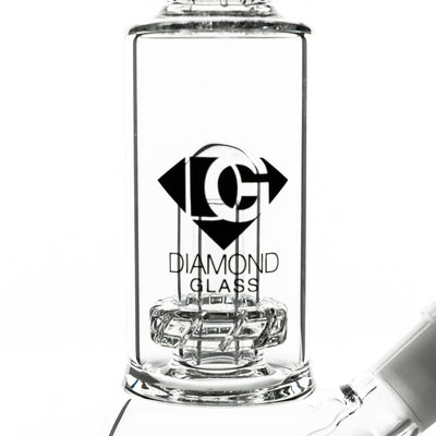 15 Inch Staight Pipe with Matrix Perc | Diamond Glass - Vaping Industries