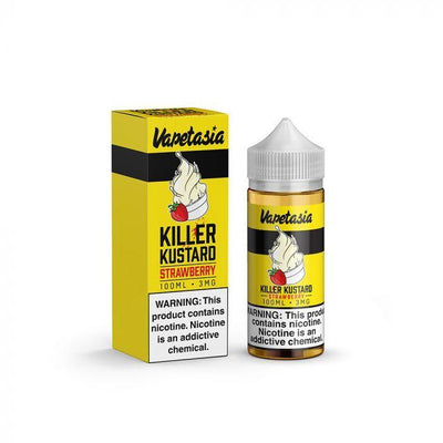 VAPETASIA | Strawberry Killer Kustard 100ML eLiquid - Vaping Industries