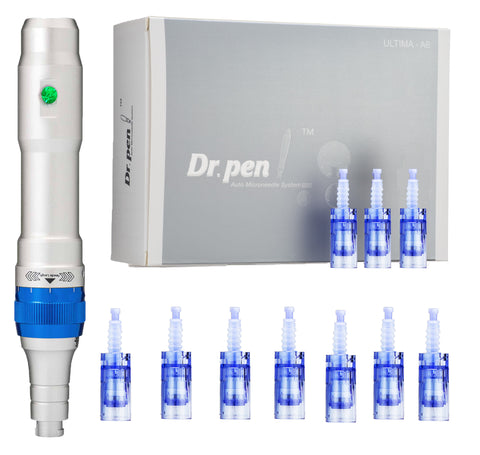 Dr. pen® Ultima A6 kit w/ 10 pcs 12 series facial tips BBGLOW