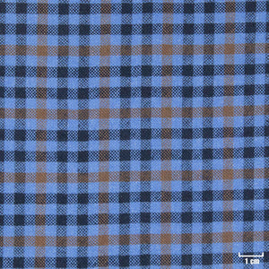 403204 - BLUE, BROWN CHECKS