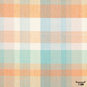 501619 - MIXED BLUE/GREEN/ORANGE, CHECKS