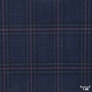 822502 - DARK BLUE, PINK CHECKS