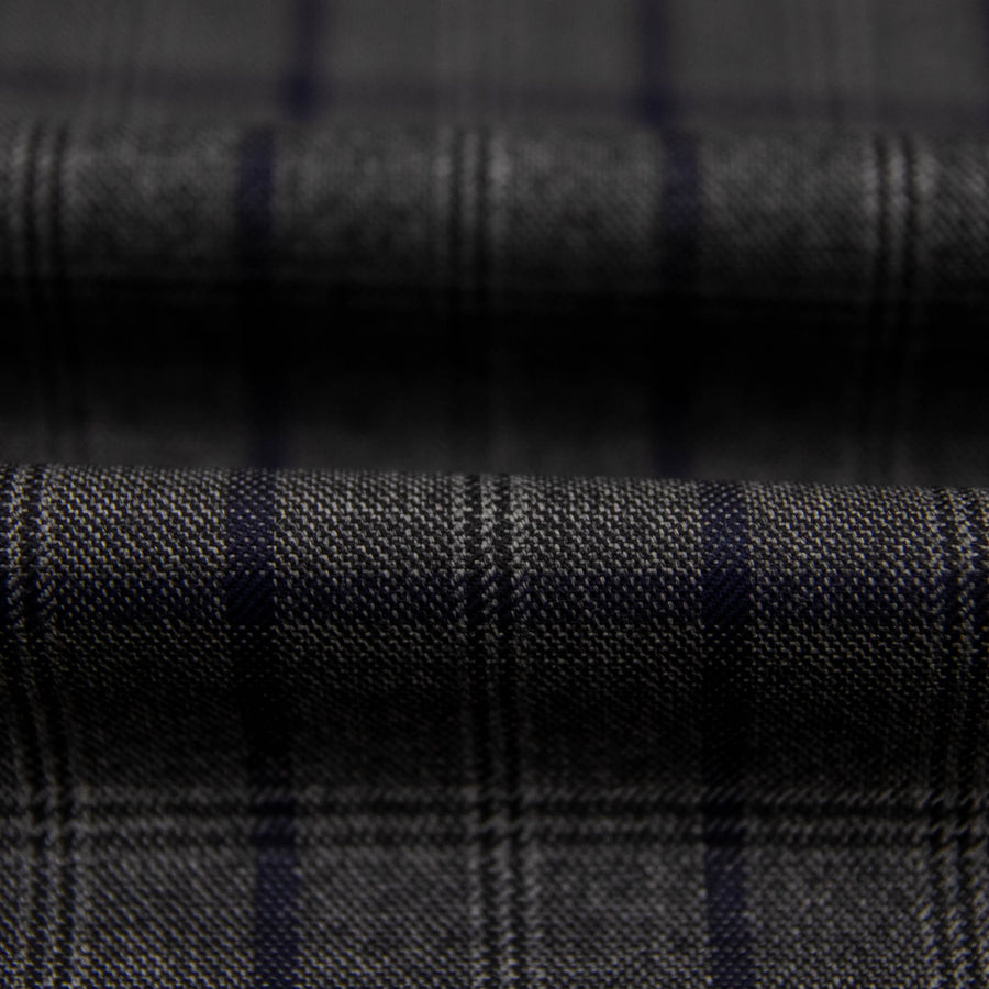 822007 - GREY, BLUE CHECKS