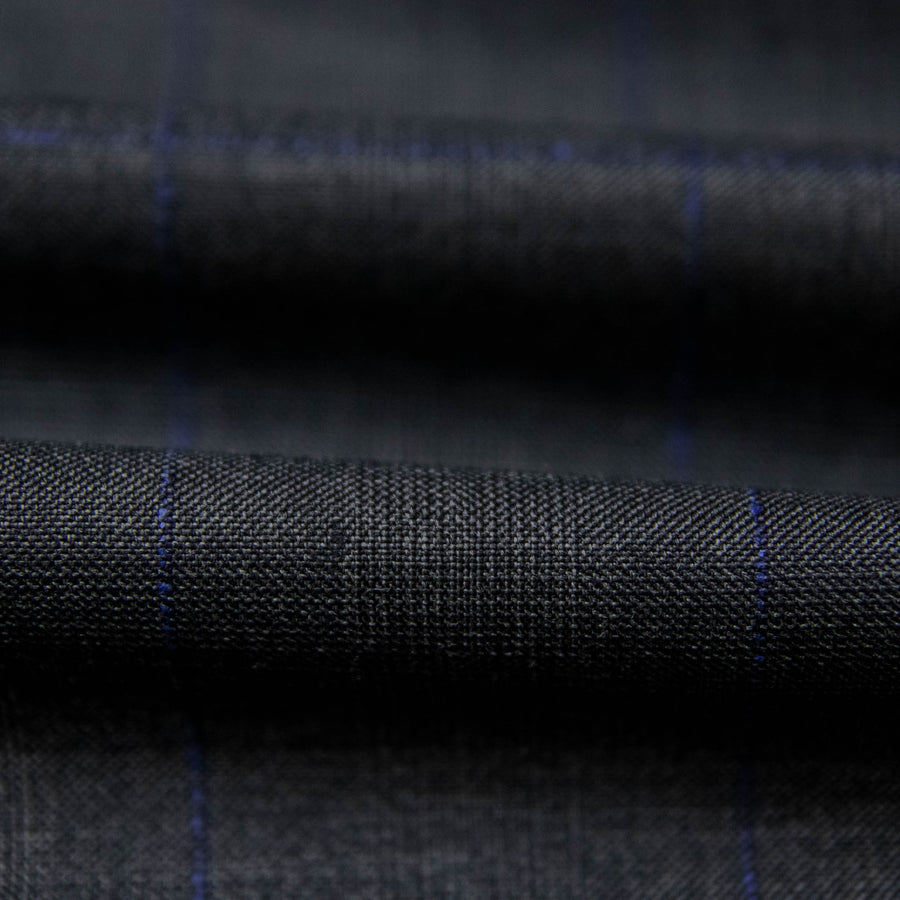 227101 - DARK GREY, BLUE CHECKS