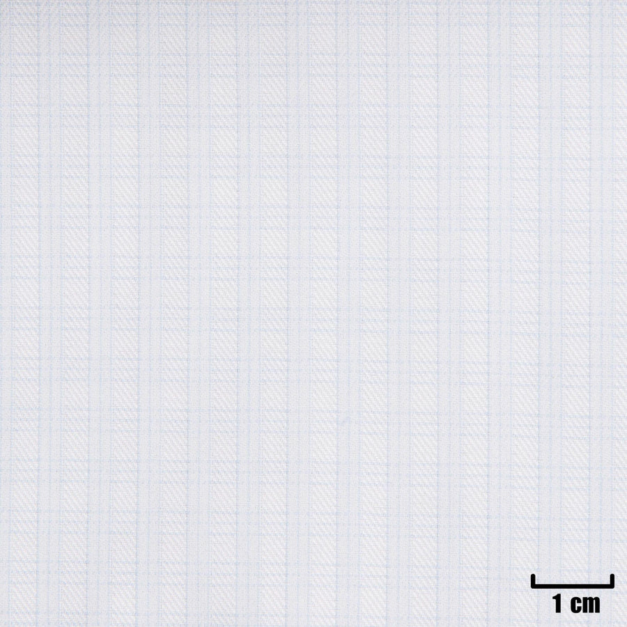 H11343 - WHITE, SMALL BLUE CHECKS